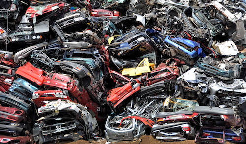 Car breakers car scrap yard scrap yard zaandam netherlands noordzeekanaal f4jrcf
