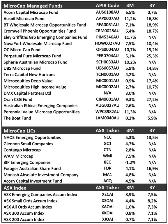 Microcap Managers Continue to Outperform ETF's - Mark