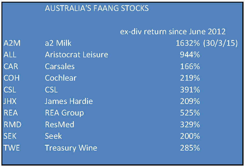 Aussie faang stocks